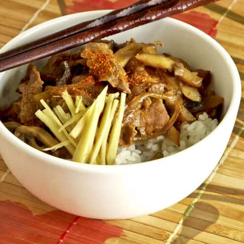 Gyudon (Japanese beef bowl) - Pickled Plum Food And Drinks