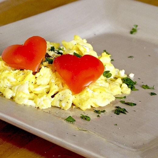 plate of scrambled eggs