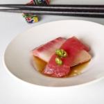 yellowtail and tuna sashimi