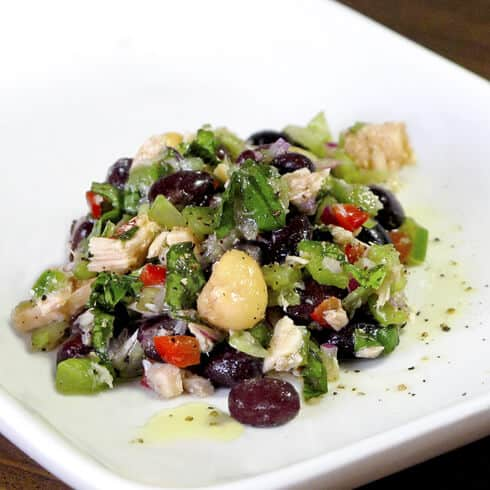 tuna beans vegetable salad