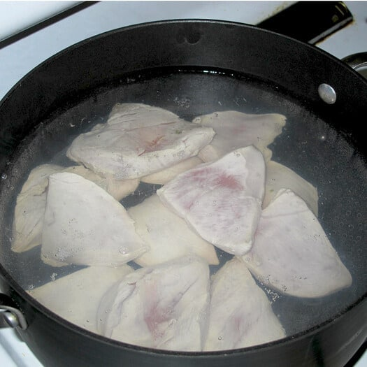 how to cook chicken breast boiling water