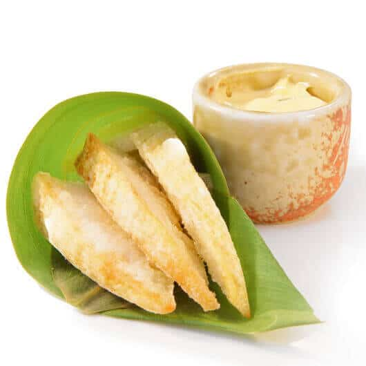 deep fried bamboo shoot with mayo