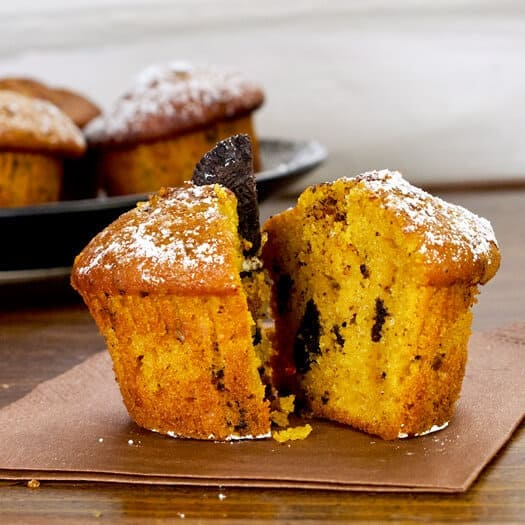 Pumpkin Oreo Muffins - Pickled Plum Food And Drinks