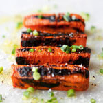 BLACKENED HASSELBACK CARROTS