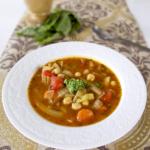 chickpea fennel soup basil pesto