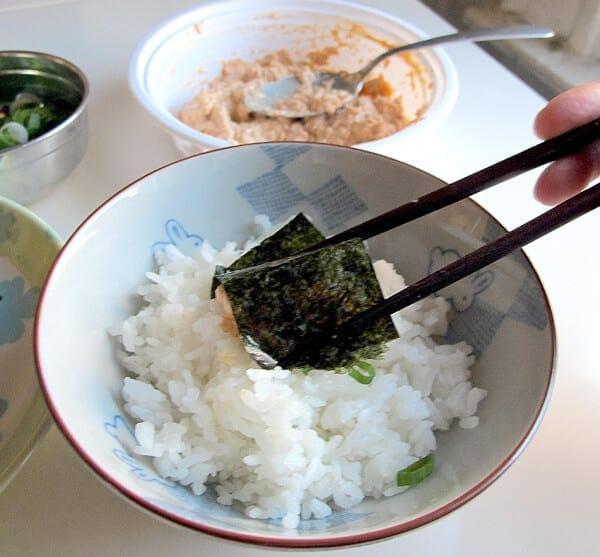 chopsticks spicy tuna salad