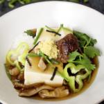 tofu with mushroom sauce