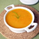 half blended vegetable soup