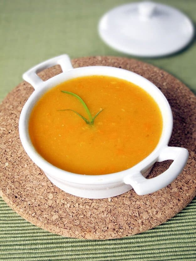 half blended soup 625
