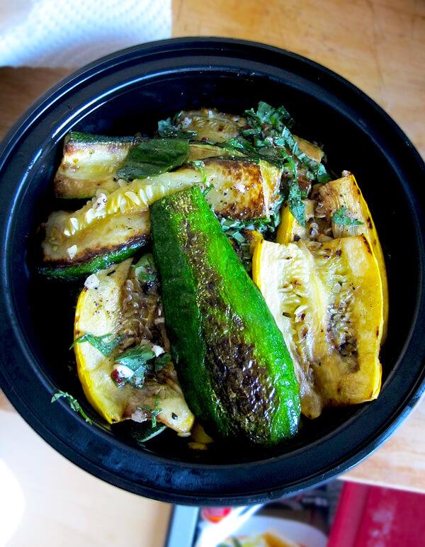 zucchini marinating