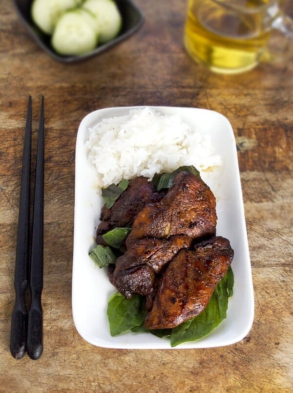 spicy soy basil chicken