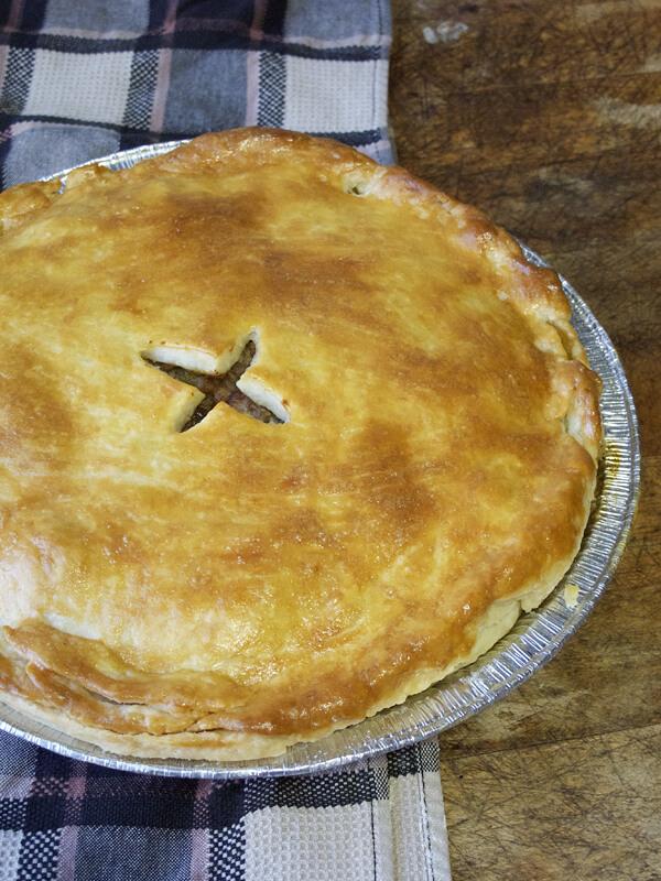Thanksgiving turkey meat pie - Tourtiere