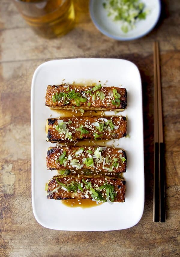 Tofu dengaku - tofu with miso glaze - Pickled Plum
