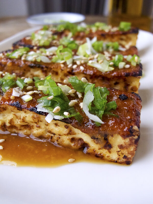 Tofu dengaku - tofu with miso glaze - Pickled Plum Food ...