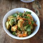 avocado carrot salad with ponzu