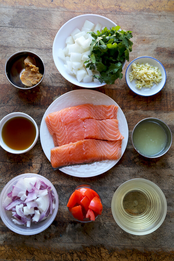 salmon soup ingredients