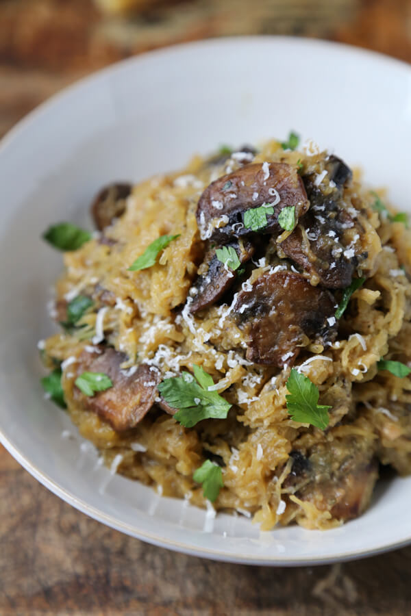 spaghetti squash and mushrooms 2