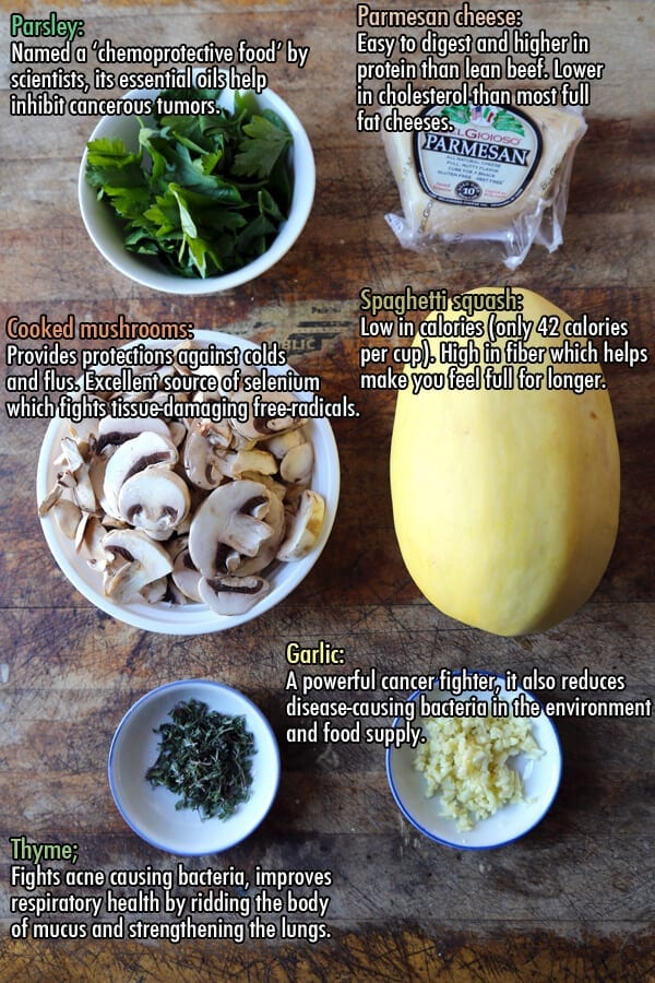 spaghetti squash ingredients info