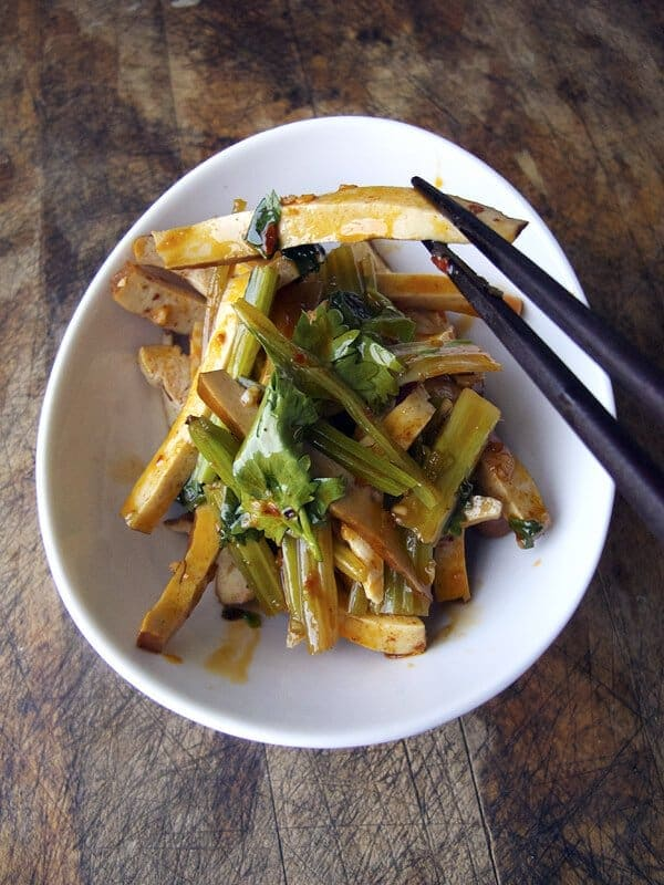 Smoked Tofu with Asian Celery at Szechuan Gourmet / Tofu on 7th