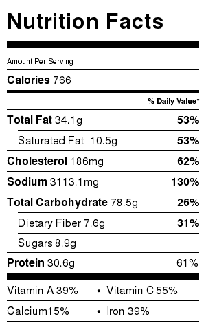 miso ramen nutrition facts