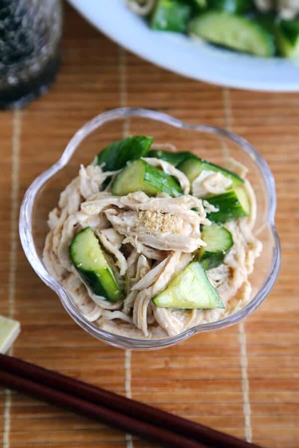 cucumber sesame chicken salad