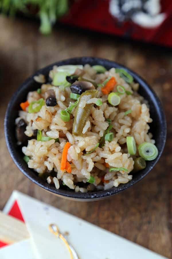 Rice Cooker Vegetable Rice