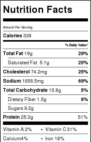 vietnamese-beef-meatballs-nutritional-label