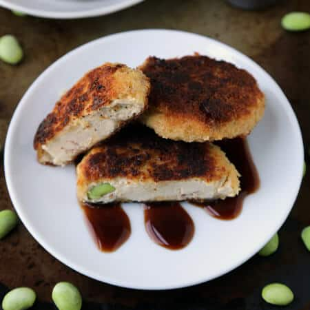 Tofu Edamame 'Fish' Cakes