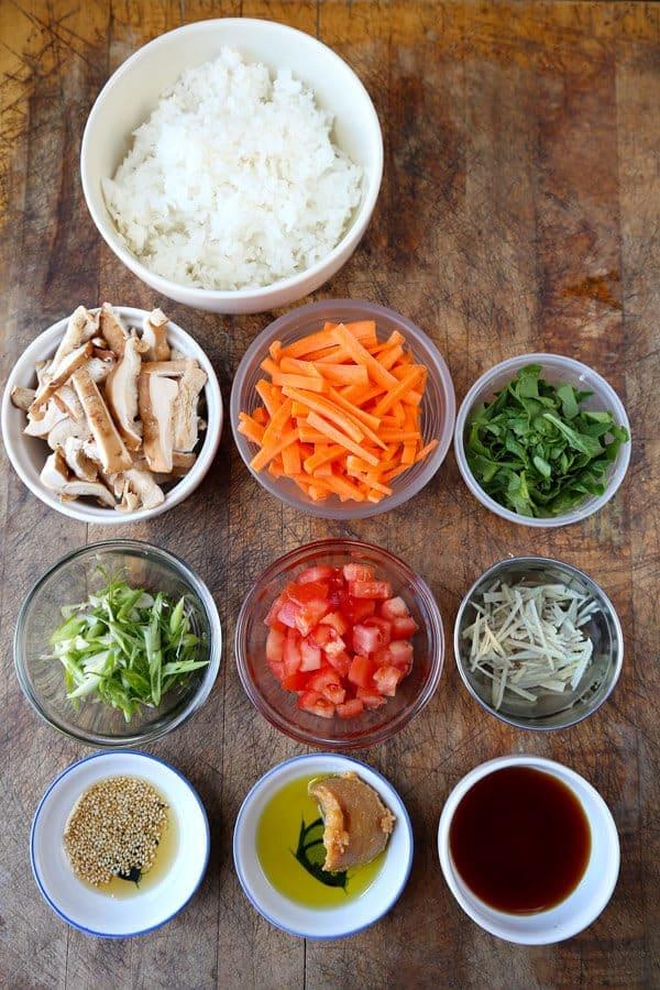 Vegetarian chirashi sushi chirashizushi pickled plum for Where to buy sushi grade fish nyc
