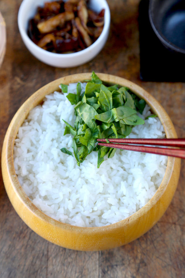 spinach-on-rice
