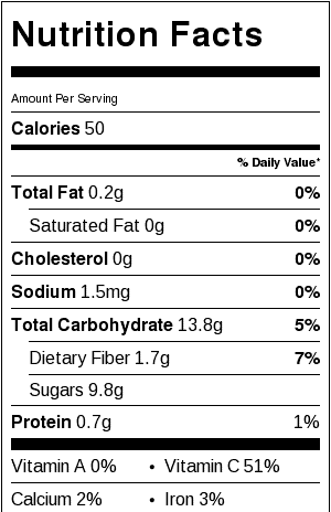 low-sugar-mint-lemonade-nutritional-label