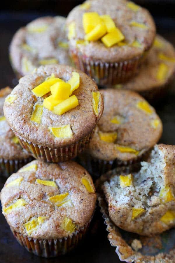 almond mango muffins - gluten free