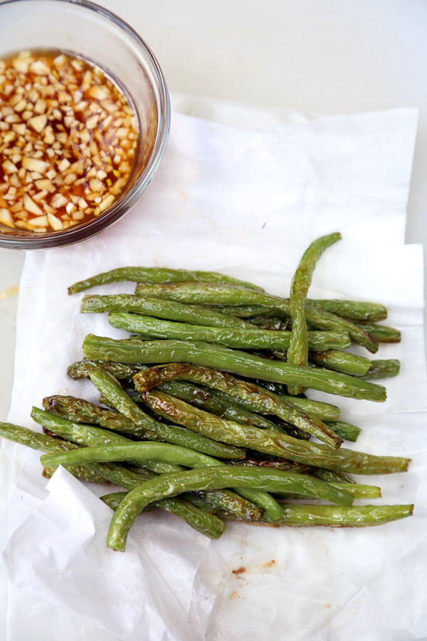 Dry-Fried Green Beans with Garlic Sauce - Pickled Plum Food And Drinks