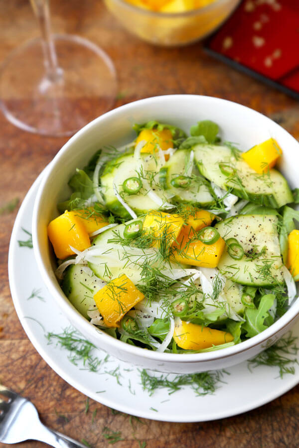 Pickled Cucumber and Onion Salad - Pickled Plum Food And ...