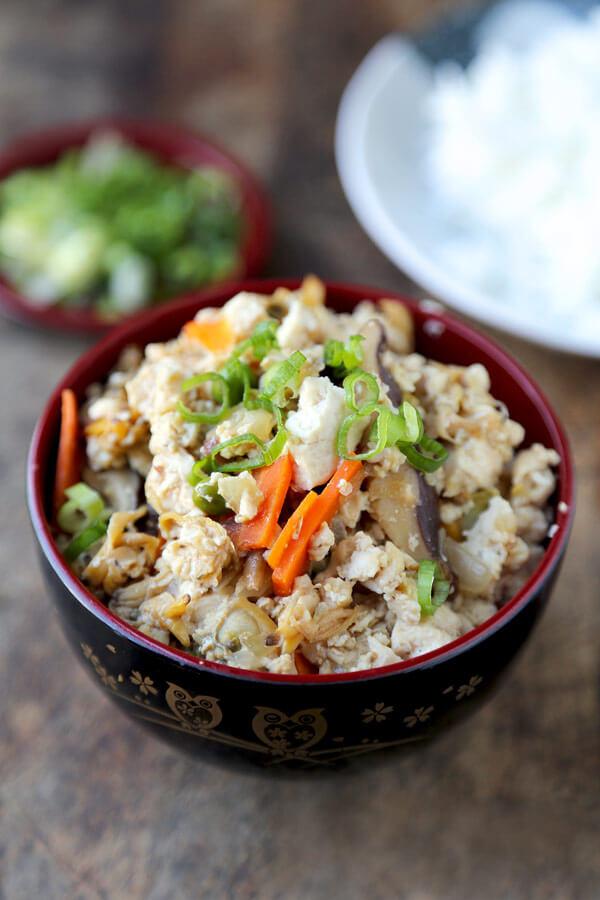 tofu and clam scramble