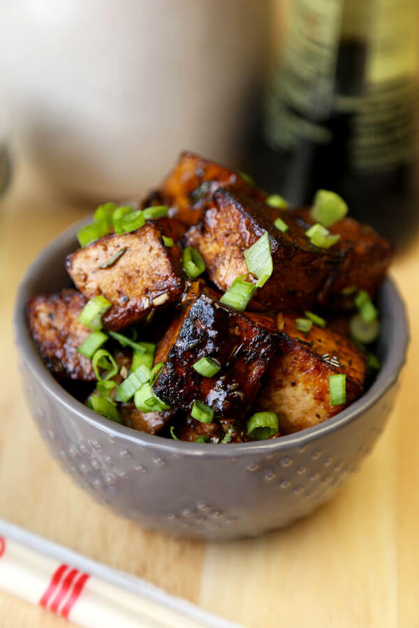 Tofu With London Broil Marinade - Pickled Plum