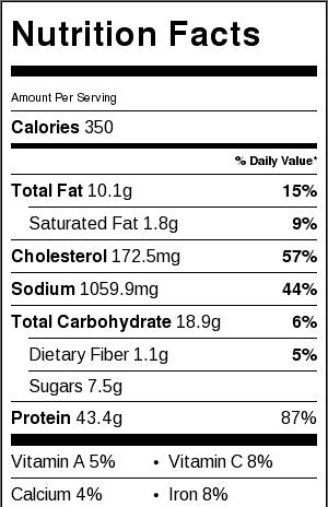 empress chicken nutrition facts