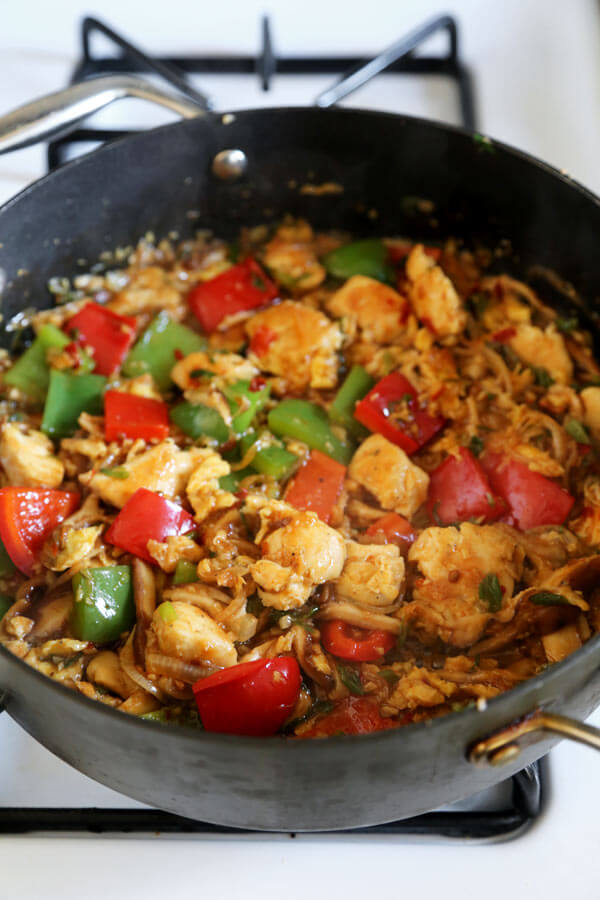 chicken-stir-fried