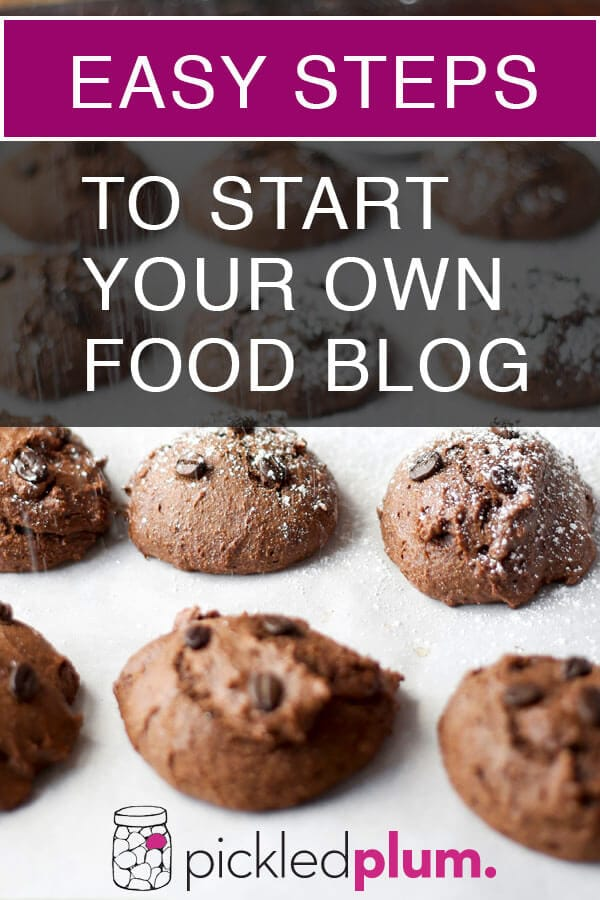 easy steps to start a food blog