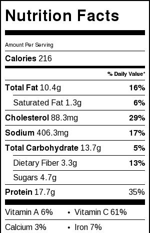 hunan-chicken-nutrition-facts