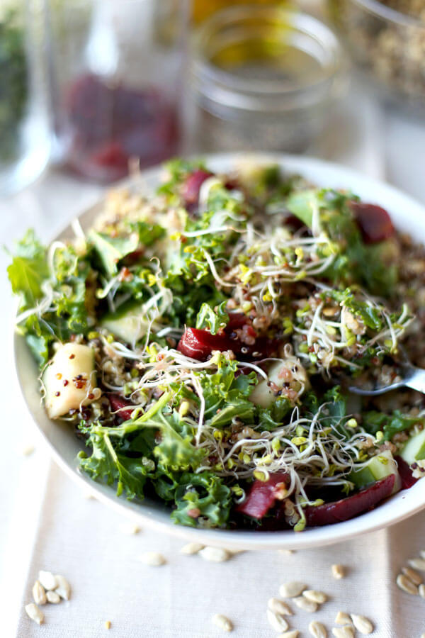 Detox kale and quinoa salad recipe pickled plum food and drinks detox kale and quinoa salad a healthy and cleansing salad to re energize your forumfinder Images