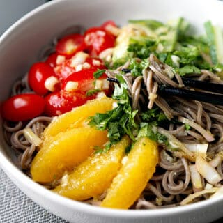 Soba Noodle Salad With Tangy Citrus Dressing