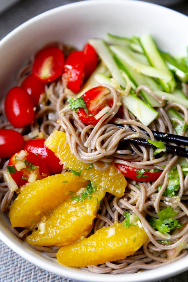 soba noodle salad with raw veggie noodles a spicy sunflower soba ...