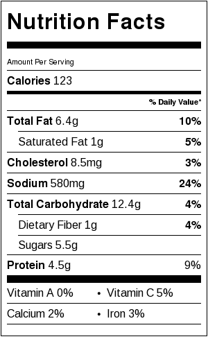 kani salad nutrition facts