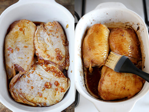 how to cook marinated chicken thighs in the oven