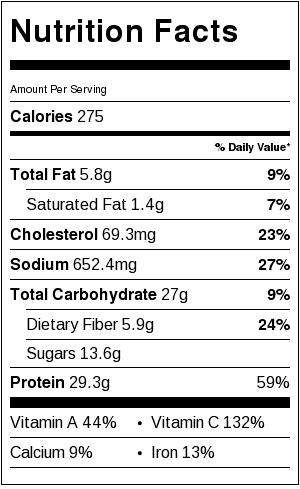 slow cooker chicken soup nutrition facts