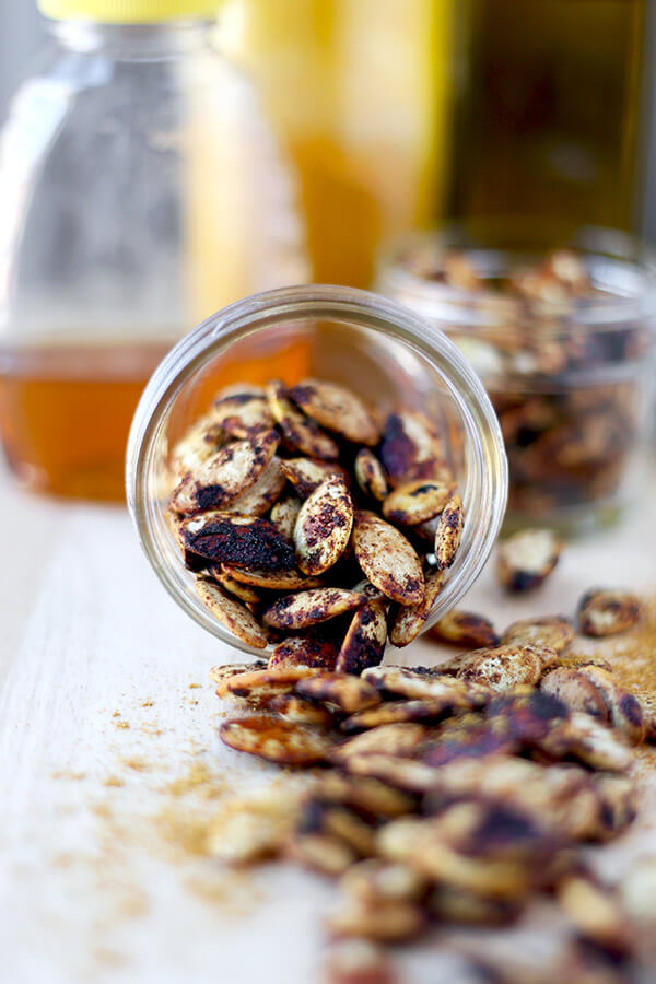 Spiced Roasted Pumpkin Seeds - These spiced roasted pumpkin seeds are ...