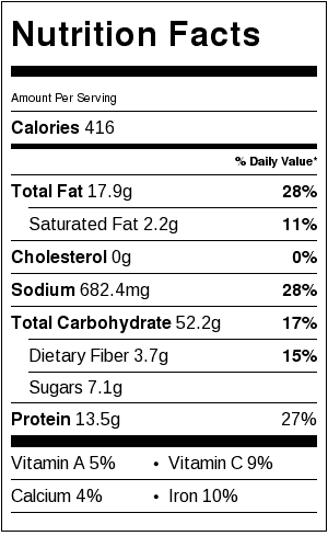dan dan noodles nutrition facts