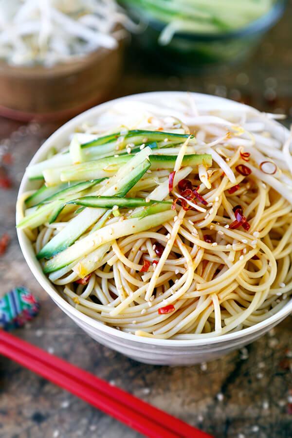 Asian Noodle Salad Recipe SimplyRecipescom