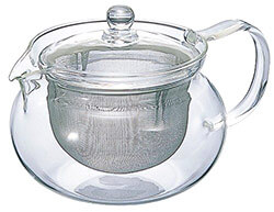 Tea Time Essential - Clear teapot for brewing loose tea.